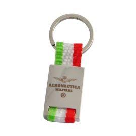 PORTACHIAVI METALLO/TESSUTO BANDIERA ITALIANA AERONAUTICA MILITARE