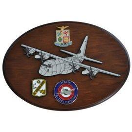 CREST ARALDICO AEREI C-130J HERCULES II AERONAUTICA MILITARE MIS CM 22,5 X 17,5