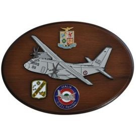 CREST ARALDICO AEREI C-27J SPARTAN AERONAUTICA MILITARE MIS CM 22,5 X 17,5