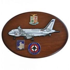CREST ARALDICO AEREI AIRBUS A-319 CJ AERONAUTICA MILITARE MIS CM 22,5 X 17,5