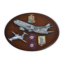 CREST ARALDICO AEREI P.180 - KC-767A AERONAUTICA MILITARE MIS CM 22,5 X 17,5