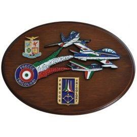 CREST ARALDICO AEREI F-86 - G91 PAN - MB 339 PAN FRECCE TRICOLORI MIS CM 22,5 X 17,5