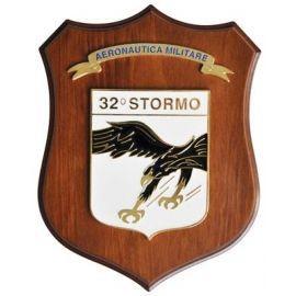 CREST ARALDICO 32° STORMO AERONAUTICA MILITARE MIS CM 22,5 X 17,5