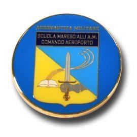 FERMACARTE IN METALLO SMALTATO SCUOLA MARESCIALLI A.M. COMANDO AEROPORTO
