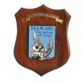 CREST ARALDICO CON STEMMA S.S.A.M CASERTA MIS CM 22,5 X 17,5