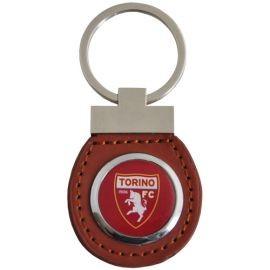 PORTACHIAVI IN SIMILPELLE E METALLO LOGO UFFICIALE TORINO FC