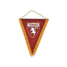 GAGLIARDETTO TRIANGOLARE IN RASO LOGO UFFICIALE TORINO FC 14X17 CM