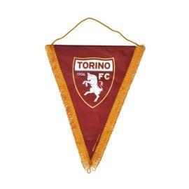 GAGLIARDETTO TRIANGOLARE IN RASO LOGO UFFICIALE TORINO FC 20X28 CM