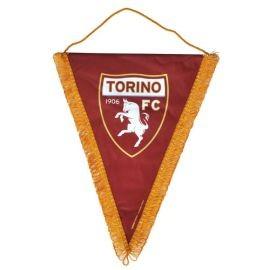 GAGLIARDETTO TRIANGOLARE IN RASO LOGO UFFICIALE TORINO FC 25X35 CM