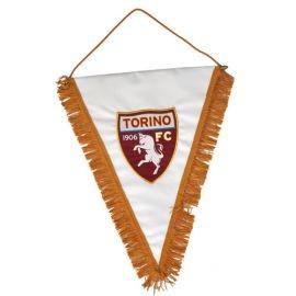 GAGLIARDETTO TRIANGOLARE GRANDE LOGO UFFICIALE TORINO FC RICAMATO 34X45 CM