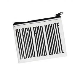 PORTAMONETE IN ECOPELLE BLACK AND WHITE