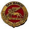 PATCH DISTINTIVO RICAMATO CON VELCRO B.M. SAN MARCO AV M.M.