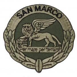 PATCH DISTINTIVO RICAMATO CON VELCRO B.M. SAN MARCO BV M.M.