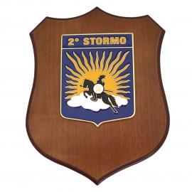 CREST ARALDICO 2° STORMO AERONAUTICA MILITARE MIS CM 22,5 X 17,5