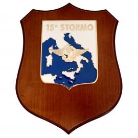CREST ARALDICO 15° STORMO AERONAUTICA MILITARE MIS CM 22,5 X 17,5