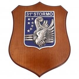CREST ARALDICO 31° STORMO AERONAUTICA MILITARE MIS CM 22,5 X 17,5