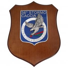 CREST ARALDICO 36° STORMO AERONAUTICA MILITARE MIS CM 22,5 X 17,5