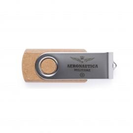 CHIAVETTA USB CAPACITA' 16 GB CORPO IN CARTONE RICICLATO CON MECCANISMO A ROTAZIONE PER PROTEGGERE IL CONNETTORE