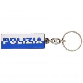 PORTACHIAVI SCRITTA BICOLORE POLIZIA DI STATO
