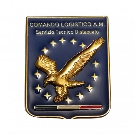 DISTINTIVO DA CAMICIA 25X32MM IN METALLO CON STEMMA COMANDO LOGISTICO AM
