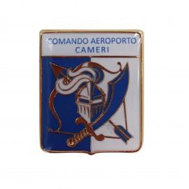 DISTINTIVO DA CAMICIA 25X32MM IN METALLO COM AEROPORTO CAMERI